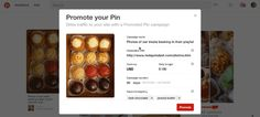 New: Promote your pins feature for Pinterest