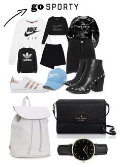 """TENDANCE SPORTY"" by mylifeask on Polyvore featuring mode, NIKE, Mr. Gugu & Miss Go, adidas, MARC CAIN, adidas Originals, Boohoo, Aéropostale, Kate Spade et ROSEFIELD"
