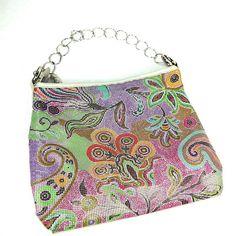 a20dc6694dcf RESERVED for Sharene Vintage Purse Whiting and Davis Enamel Metal Mesh Hobo  Shoulder Bag Floral Paisley