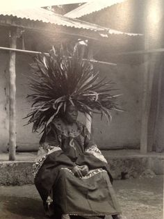 A Tyn feather crown (headdress) typically worn by the Bamileke people of Cameroon