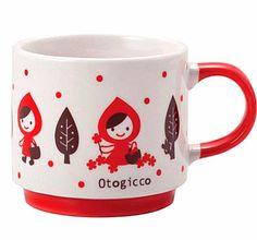 Decole Otogicco Red Riding Hood Stack Mug – The Tangerine Fox Red Riding Hood, Fox, Mugs, Tableware, Collection, Dinnerware, Tablewares, Little Red, Mug