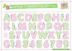 Blog BoniFrati: Molde de Letras e Números de feltro
