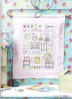 A Stitch in Time Sampler 1 Cross Stitch Samplers, Cross Stitching, Cross Stitch Embroidery, Cross Stitch Designs, Cross Stitch Patterns, Mug Rugs, Textiles, Needlework, Crafty