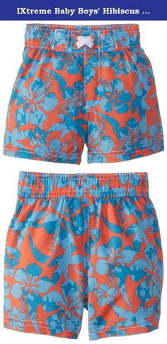 Baby Boy 6-24m le top Navy Little Sailboat Swim Trunks With Mesh Lining