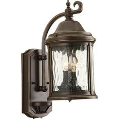 Progress Lighting Ashmore 15-in H Antique Bronze Motion Activated Outdoor Wall Light