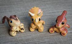 Handmade Polymer Clay Animal Triceratops / Dinosaur by DeniseSoden