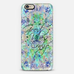 """Good Vibes Only 2"" by Artist Julia Di Sano, Ebi Emporium on @Casetify, Colorful Semi Transparent Typography Quote Blue Green Aqua Abstract Watercolor Painting iPhone Samsung Case #tech #iPhone6 #iPhone6s #inspiration #positivethinking #behappy #iPhoneCase #SamsungGalaxy #iPhone5 #iPhone6Plus #transparent #goodvibes #goodvibesonly #watercolor #EbiEmporium #Casetify #clearcase"