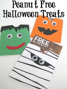Peanut Free Halloween Treat Envelope - Organized 31 #Frosty4Adoption #sponsored