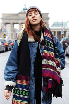17 candid and colourful looks from Berlin Fashion Week, Fall 2014. Shot by Jaclyn Locke.