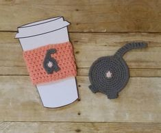 Miniature Coffee Cup ~ Corey ~ Dollhouse ~ Charm ~ Stocking Stuffer ~ Crafts