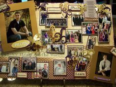 high school graduation party ideas | Creations from my heart: Learn to Make a Graduation Board....