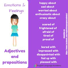 Adjectives & Prepositions - Emotions & Feelings