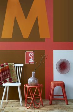 As always an interesting color combination from Vtwonen! The red/orange color is a great color for spring.