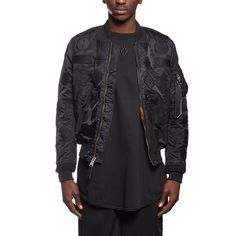 Pissis Alpha jacket from the F/W2016-17 Marcelo Burlon County of Milan collection in black