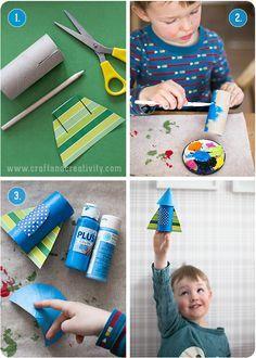 Rymdraket av toarullar - av Craft & Creativity