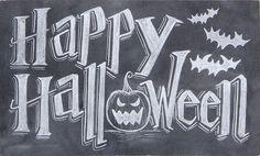 Happy Halloween Chalk Art Sign/ for barn floor Chalkboard Drawings, Chalkboard Lettering, Chalkboard Designs, Chalkboard Ideas, Fröhliches Halloween, Halloween Signs, Happy Halloween Sign, Halloween Prints, Halloween Decorations