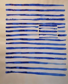 Blue Stripes-Painting