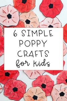 Check out these 6 simple and easy ideas to teach your students about the significance of ANZAC, Remembrance, Memorial or Veterans Day using the symbol of the poppy. Poppy crafts are suitable for students from kindergarten to sixth grade Memorial Day Activities, Remembrance Day Activities, Veterans Day Activities, Remembrance Day Poppy, Poppy Craft For Kids, Easy Crafts For Kids, Paper Plate Poppy Craft, Anzac Poppy, Veterans Day Poppy