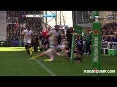 Danny Care sensational inside flick for Matt Hopper try Rugby Players, Champion, Heineken