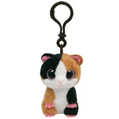 TY Beanie Boos - NIBBLES the Guinea Pig (Plastic Key Clip - 3 inch)