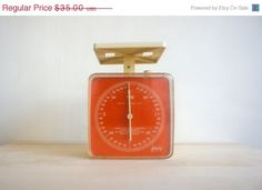 Etsy.com | Vintage Kitchen Scale // 1960 French Retro // by FrenchAtticFinds ($29.75AUD)