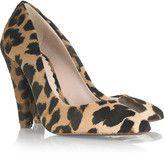 leopard print pumps + calf hair