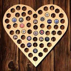 I Heart Beer Bottle Cap Holder Bar Sign