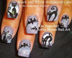 """""""Halloween nails"""" """"black cat nails"""" """"black cat design"""" """"black cat clip art"""" """"black cats"""" """"cat nail art"""" """"halloween cats"""" nails nail art NAILART"""