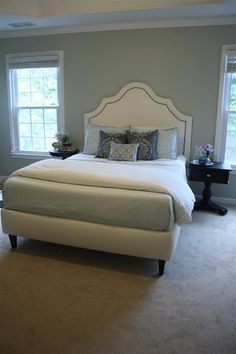 Complete DIY upholstered bed tutorial with full plans and