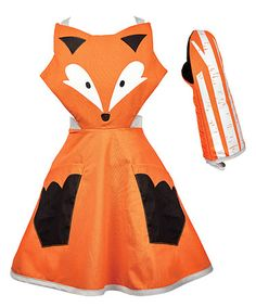 This Foxy Apron & Oven Mitt by Kitsch'n Glam is perfect! #zulilyfinds
