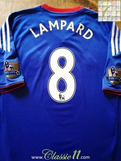 Official Adidas Chelsea home football shirt from the 2010 11 season.  Complete with Lampard 1ff65db66