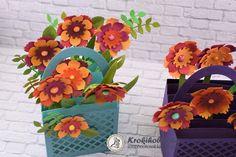 3D üdvözlőkártya, őszi virágokkal - 663578 Scrapbook, Blog, Scrapbooks, Scrapbooking, Guest Books