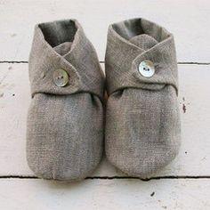 485d79c1b7de Linen baby shoes by Fog Linen
