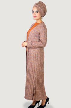 Aişe Tesettür - Triko Üç Parça Tesettür Kombin Unique Art, Shawl, High Neck Dress, How To Wear, Dresses, Style, Fashion, Turtleneck Dress, Vestidos