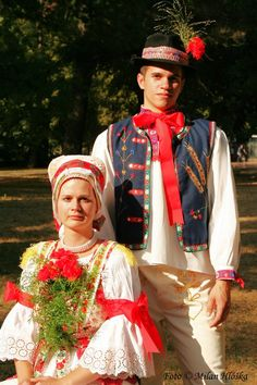 Močenok village, Ponitrie region, Western Slovakia Costumes Around The World, Folk Clothing, Beautiful Costumes, The Shining, Folk Costume, My Heritage, Traditional Dresses, Old World, Harajuku