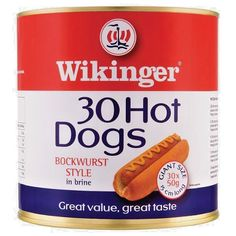 Hot Dogs Beechwood Smoked Bockwurst Style in Brine by Wikinger Bonfire Night, American Hot Dogs, Lose 30 Pounds, Snack Bar, Sauce, Catering, Snacks, Sausages, Ebay