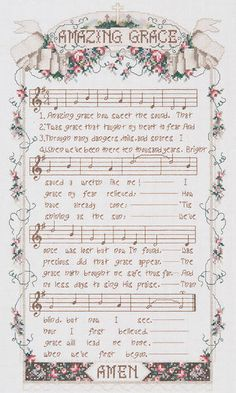 Amazing Grace Counted Cross Stitch Kit-12 X20  14 Count