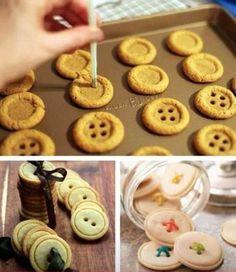 button cookies -- Epicute: Sweet as a Button Cupcake Cookies, Sugar Cookies, Cookies Et Biscuits, Cupcakes, Snowman Cookies, Roll Cookies, Sweet Cookies, Yummy Treats, Sweet Treats