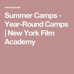 Summer Camps - Year-Round Camps | New York Film Academy