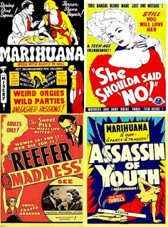 """ALL HOPPED UP on DVD - Four Vintage Drug """"Scare"""" Films on DVD Careful. Teach your kids about the evils of marijuana before it's too late! Movie Night Gift Basket, Movie Theater Rooms, Reefer Madness, Movie Night Snacks, Beatnik, Green Life, Movies To Watch, Drugs, Love Her"""