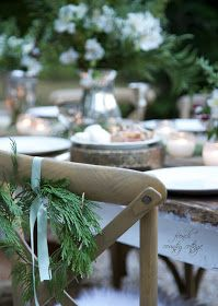 FRENCH COUNTRY COTTAGE: Outdoor Christmas table ~ 5 styling tips