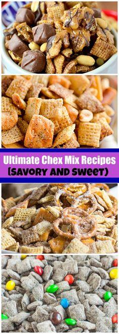 Trail Mix Recipes, Snack Mix Recipes, Yummy Snacks, Yummy Food, Snack Mixes, Savory Snacks, Chex Recipes, Sweets Recipes, Sweets