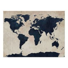 Blue splatter world map maps pinterest temple brisbane and world map distressed navy throw pillow by michael tompsett gumiabroncs Gallery