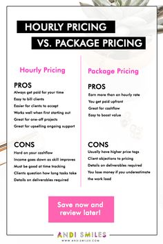 Not sure what's the difference between hourly pricing or packages? Or exactly how to price your services or products in your small business? Read this article to learn about hourly pricing vs packages, the pros and cons of each, and who should price hourl Small Business Bookkeeping, Small Business Plan, Small Business Accounting, Business Advice, Starting A Business, Business Marketing, Bakery Business, Business Offer, Business Analyst