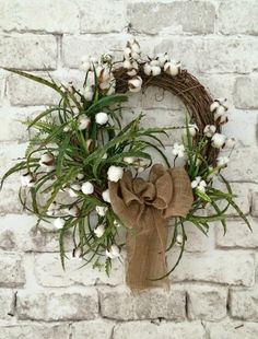 Cotton Boll Wreath, Fall Cotton Wreath, Fall Wreath, Front Door Wreath, Outdoor Wreath, Silk Wreath, Grapevine Wreath, Fall Door Wreath, Wreath on Etsy, by Adorabella Wreaths!