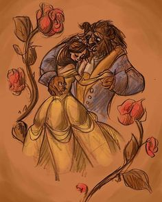 this would make a great tattoo! beauty and the beast