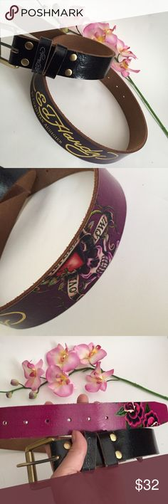 Nordstrom Exclusive Ed Hardy Belt Almost new condition, worn once gently. Black and hot pink fade design. Ed Hardy Accessories Belts