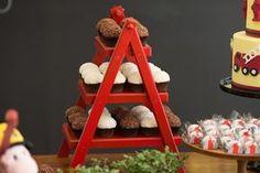 decoração de festa infantil - bombeiro