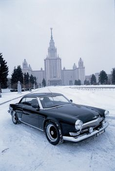 Volga V-12 Coupe. An interesting vehicle with a LOT of cultural/socio-historical weight.