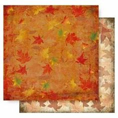 Leaves - 12x12 Double Sided Glittered Scrapbooking Cardstock